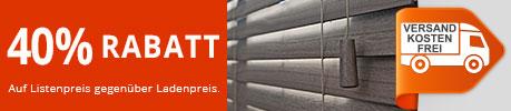 40% Rabatt auf Holzjalousien