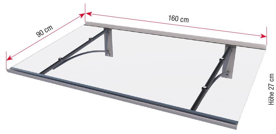 Maße Pultvordach PT/GR