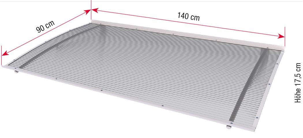 Maße Aktions-Pultvordach