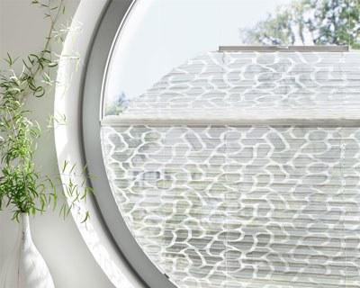 Plissees für Rundformfenster