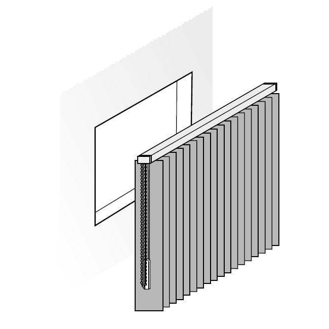 Lamellenvorhang für Senkrechtfenster