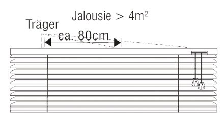 Jalousie mit Seitenverspannung Abbildung 3