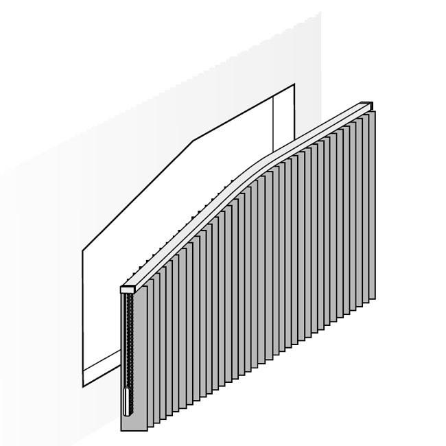 Vertikal gebogene Slopeanlage