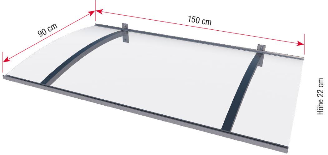 Maße Pultvordach PT/LD