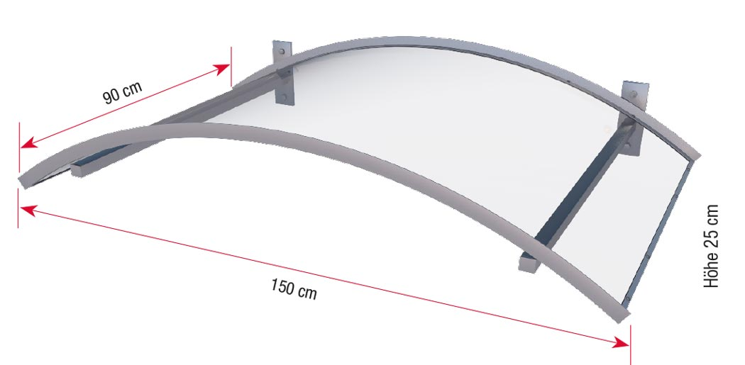 Bogenvordach mit LED-Technik