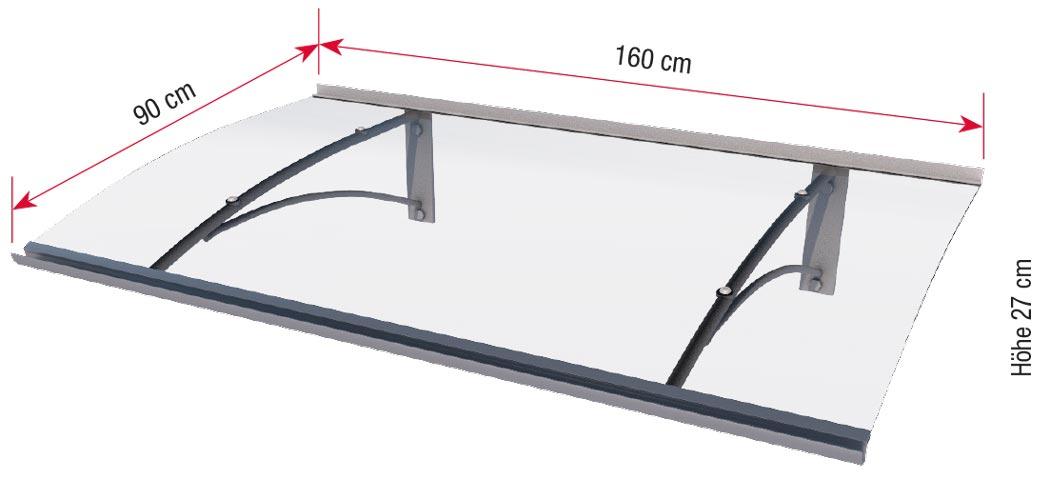 Maße Pultvordach PT/G