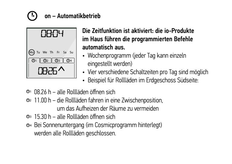 Chronis io Automatikbetrieb