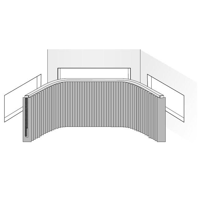 Zweifache Biegung in einer Lamellenanlage