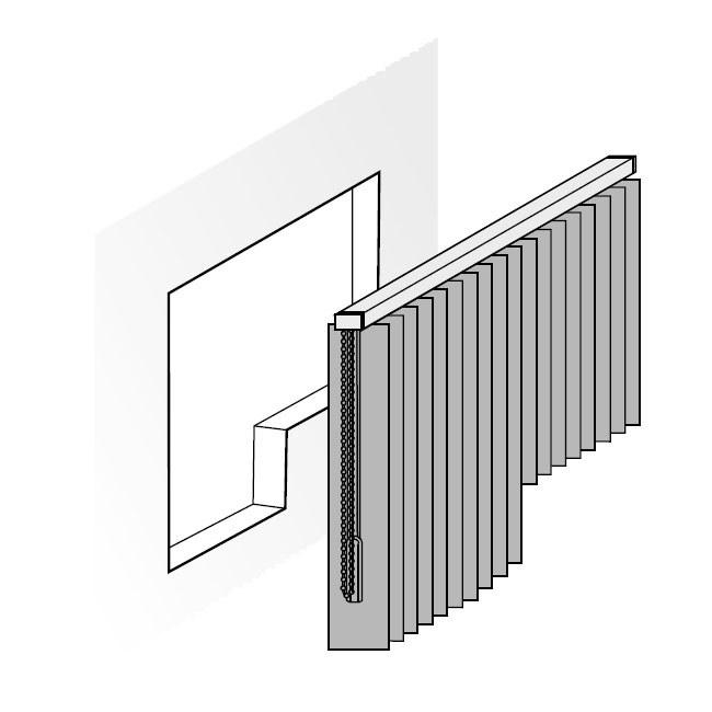 Lamellenvorhang für Tür und Fenster