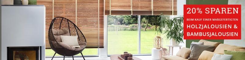 Holzjalousien & Bambusjalousien 20% reduziert
