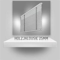 Holzjalousie 25mm mit Klemmträgern