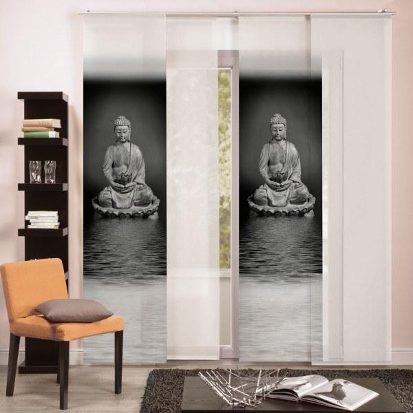 "Flächenvorhang Paneel ""Buddhism"""