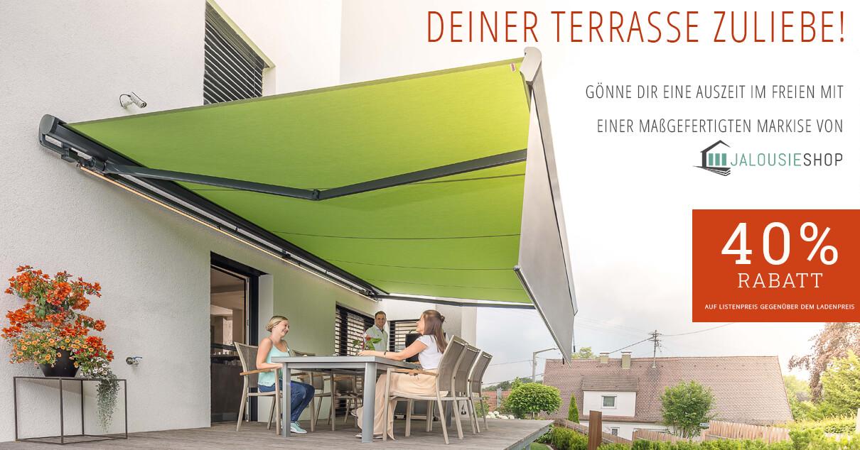 Deiner Terrasse zuliebe - Markisen nach Maß