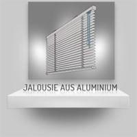 Jalousie aus Aluminium mit Klemmträgern