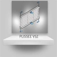 Plissee VS2 mit Klebetechnik oder Klemmträgern