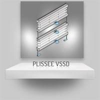 Plissee Tag und Nacht VSSD mit Klemmträgern
