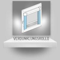 Glasleistenrollo mit selbstklebenden Seitenblenden