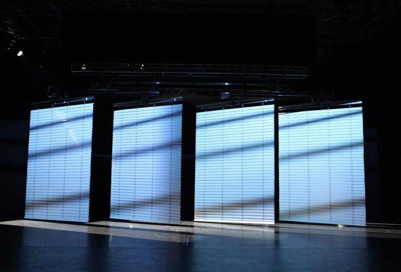 Außenraffstore für das Theater pro in Freiburg